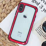 iPhone XS Max, XS, XR, X - Vivid Color Shockproof Clear Case in Assorted Colors