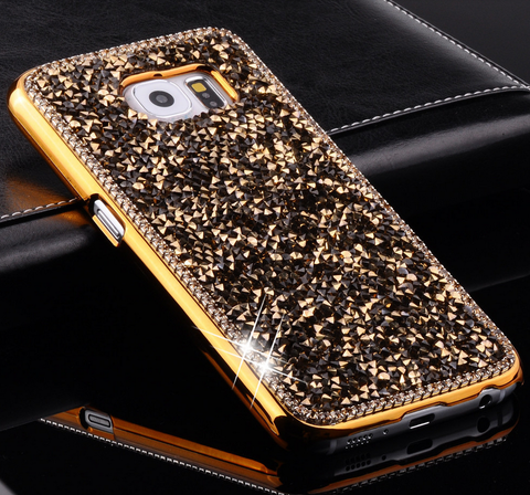 Galaxy S7, S7 Edge, S6, S6 Edge - Dazzling Rhinestone Gem Chips Case in Assorted Colors