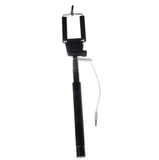 Selfie Stick - Handy, Extendable, Wired, Black Camera Holder