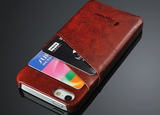 iPhone 6 Plus, 6, 5/5S - Slick Double Card Slot Wallet Case in Assorted Colors