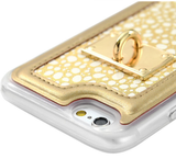 iPhone 6/S Plus, 6/6S - Ornate Border with Inlaid Design, Tassel & Lanyard Case in Assorted Colors