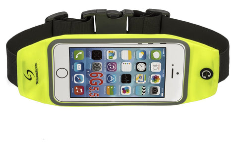 Universal Fitness Waist Band Pouch with Transparent Touch Screen Window in Four Colors