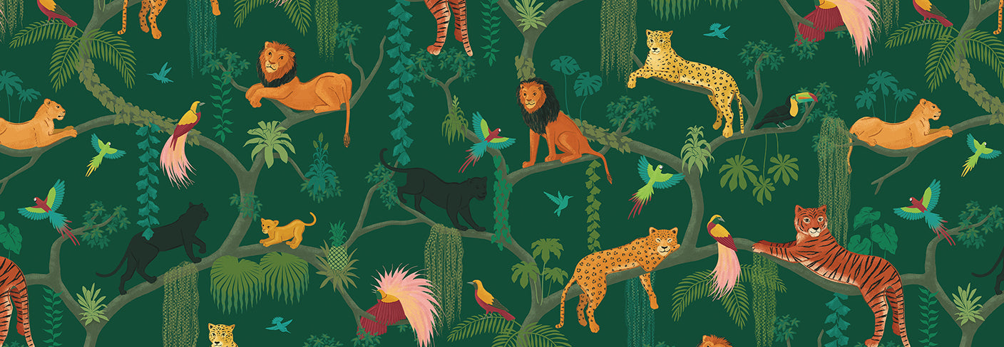 Renn Designs Big Cats Jungle Children's Wallpaper