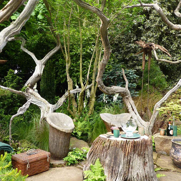 Magical picnic area in Chelsea Flower Show garden