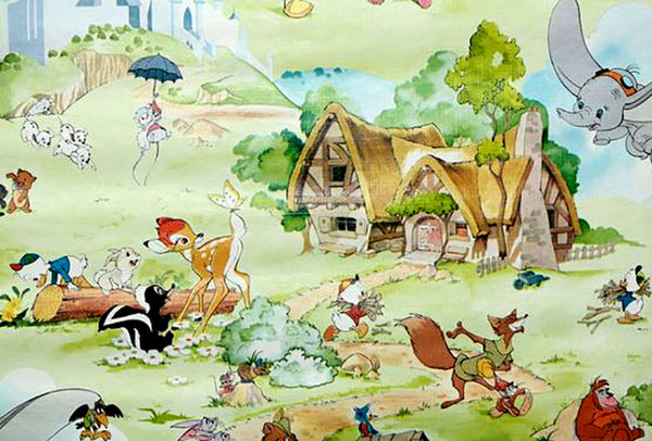 Vintage Disney children's wallpaper