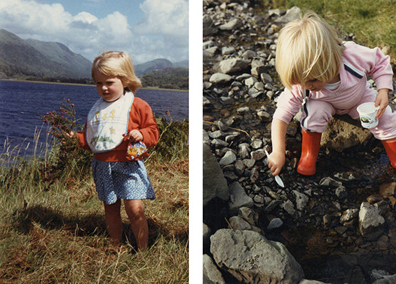 As a child, loving nature in Scotland
