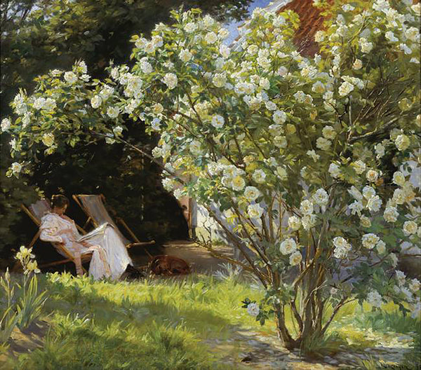 P.S. Krøyer - Roses painting from Painting the modern Garden exhibition