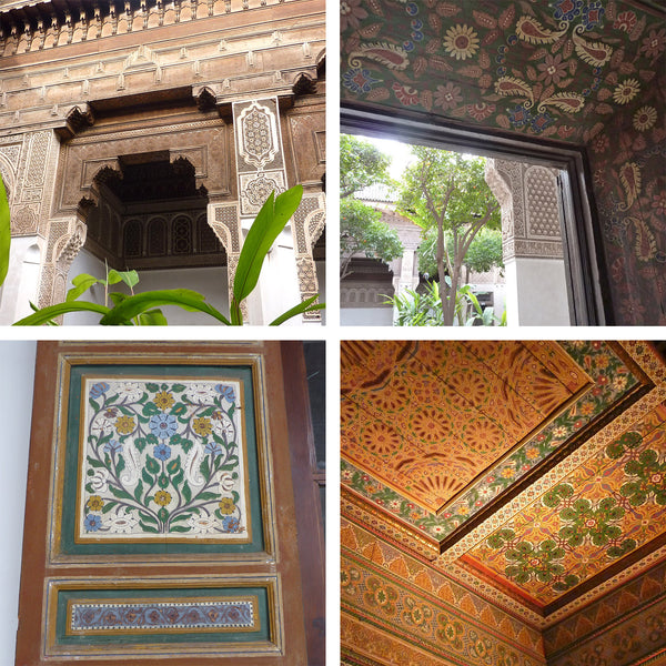 Moroccan patterned architecture, ceilings and archways
