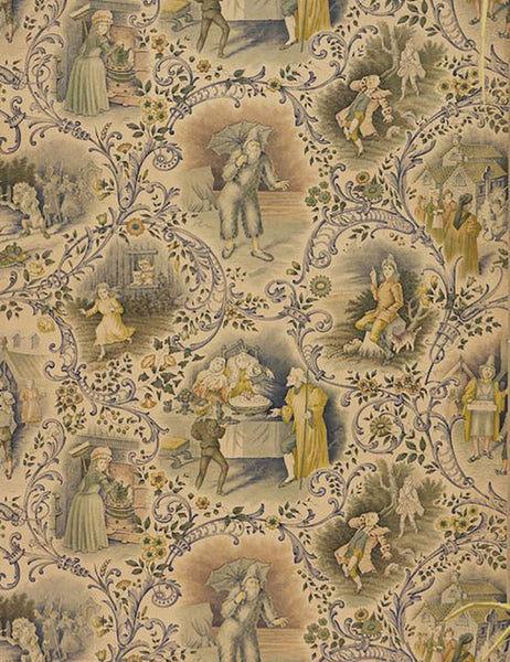 Vintage nursery children's wallpaper