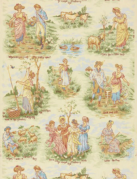 Vintage children's nursery wallpaper