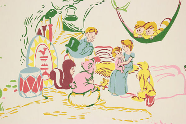 Vintage Disney Peter Pan children's wallpaper