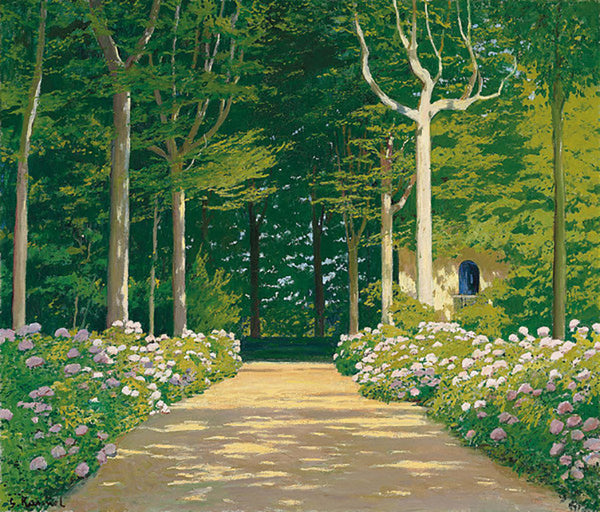 Santiago Rusinol - Hydrangeas on a Garden Path