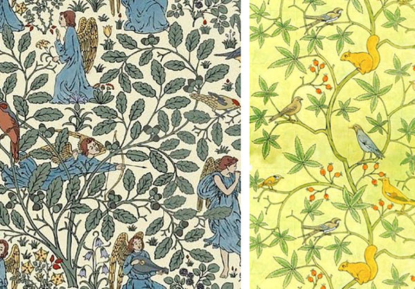 Charles F. A. Voysey children's nursery wallpaper
