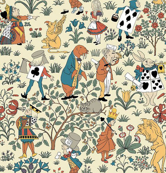 Charles F. A. Voysey Alice in Wonderland children's wallpaper