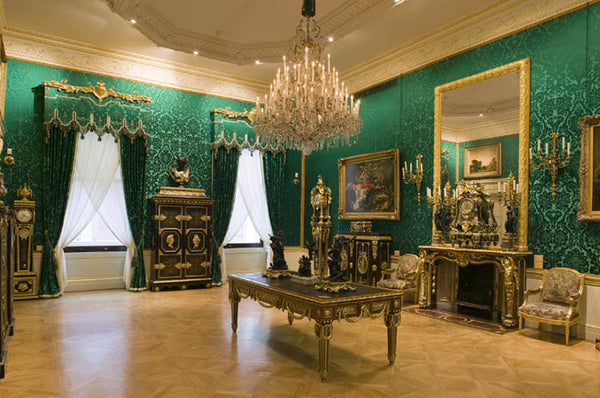 Green and Gold Rococo Room at the Wallace Collection