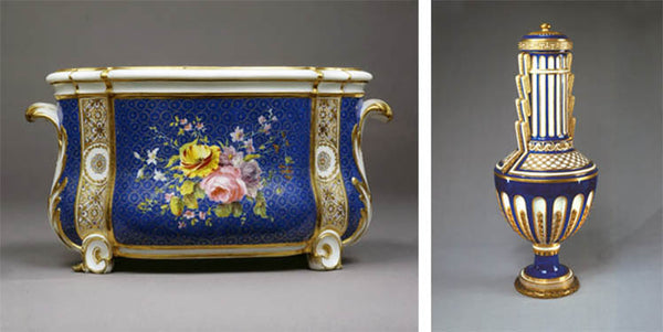 Blue floral Rococo vases from the Wallace Collection