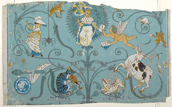 Walter Crane vintage nursery children's wallpaper