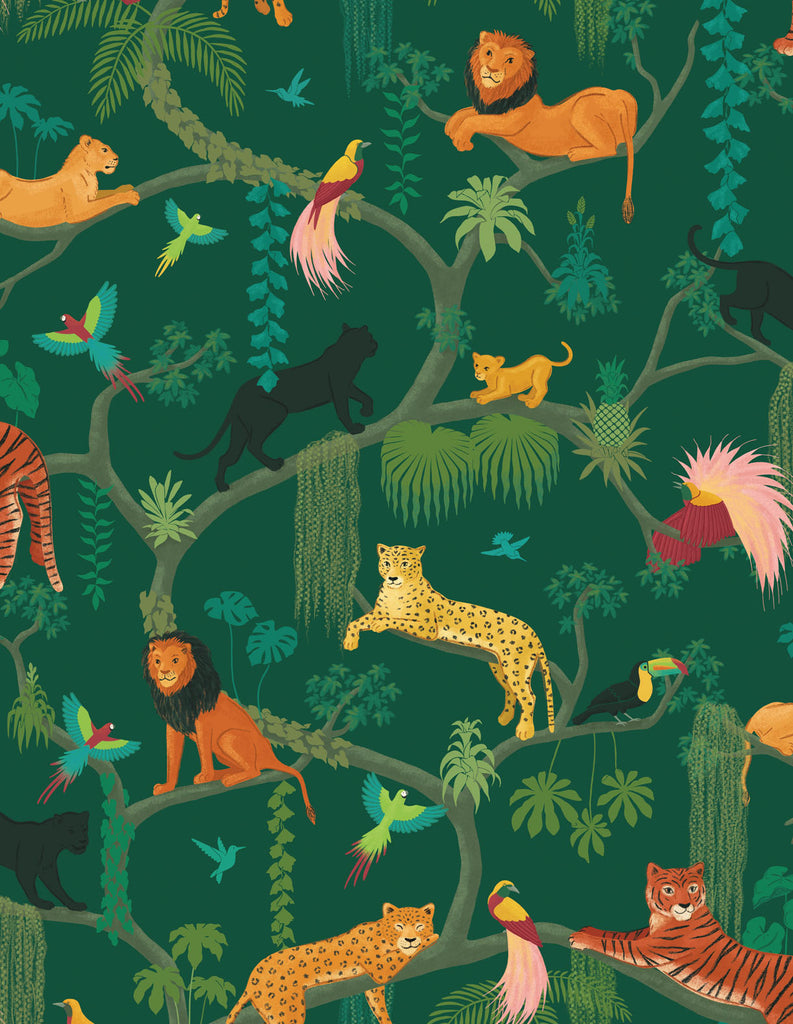 Big Cats Wallpaper Sample - Green