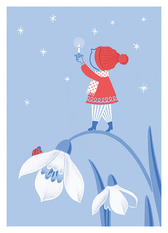 Snow Drop - Fine Art Giclee Print. 13 x 18cm