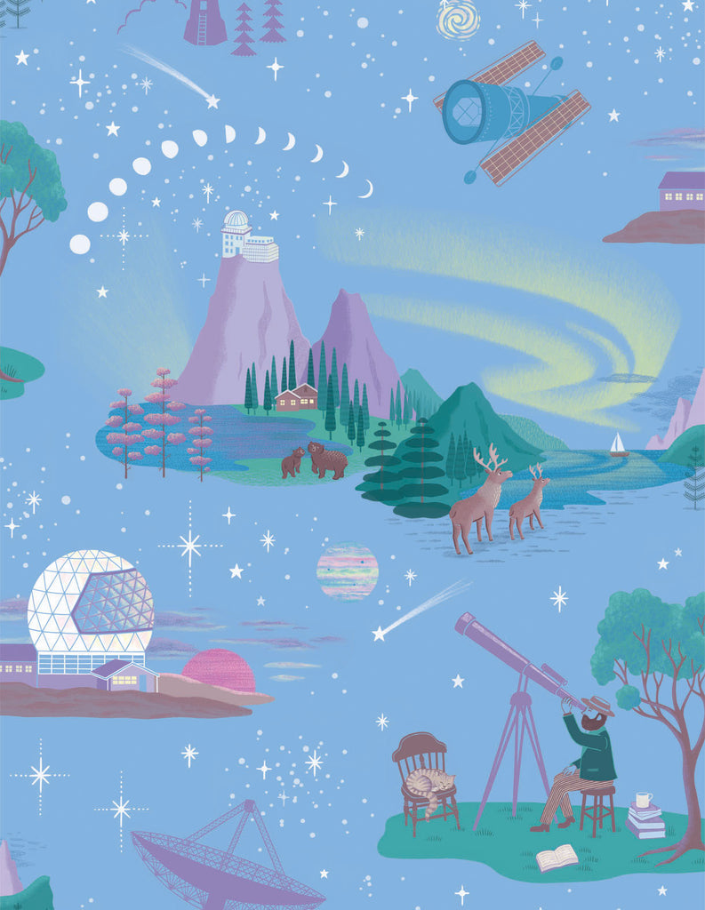 Renn Designs Northern Lights luxury children's wallpaper sample