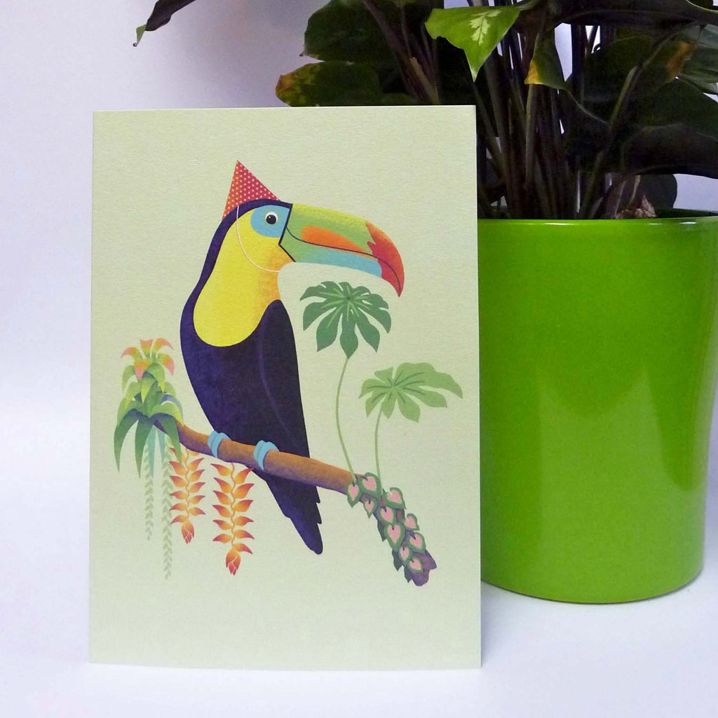 Renn Designs Toucan ropical birthday card