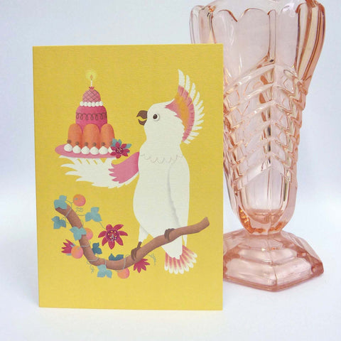 Cockatoo Birthday Card