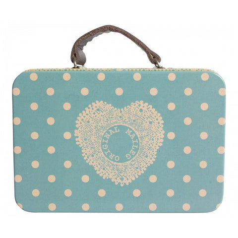 Maileg Metal Blue Spot Suitcase
