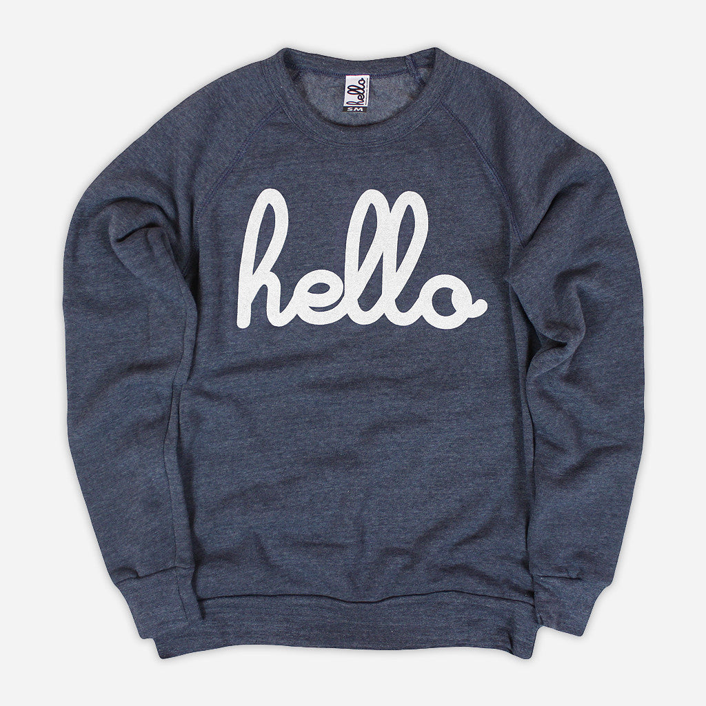 Hello Apparel Adults 'Hello' Pullover - Navy