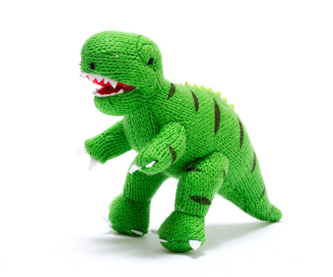 Best Years Mini T-Rex Dinosaur Rattle - Green