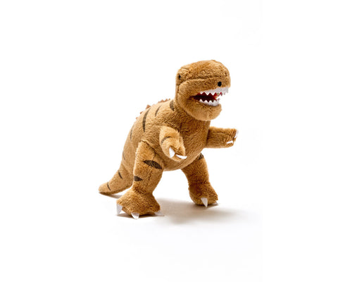 Best Years Mini T-Rex Dinosaur Rattle - Plush Toffee