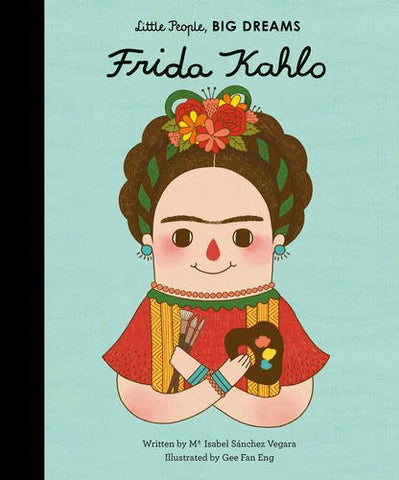 frida kahlo green hardback book - little people, big dreams