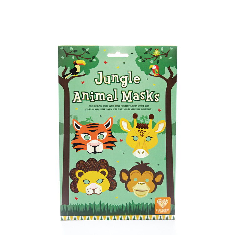 Clockwork Soldier jungle animal masks - 4 masks including giraffe, tiger, lion and monkey