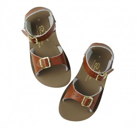 Saltwater Sandals Kids - Surfer - Tan - Size 9-12