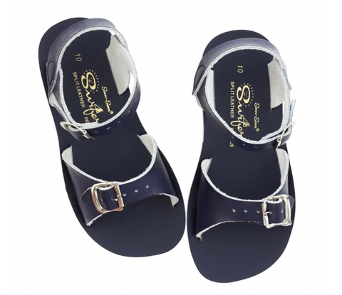 Saltwater Sandals Kids - Surfer - Navy - Sizes 9-12