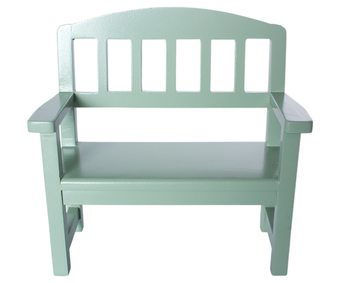 Maileg green wooden bench