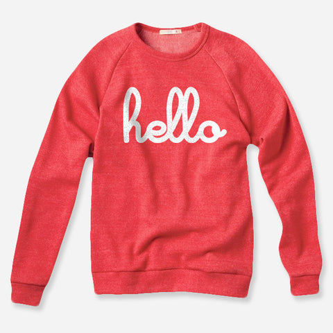 Hello Apparel Adults 'Hello' Pullover Red