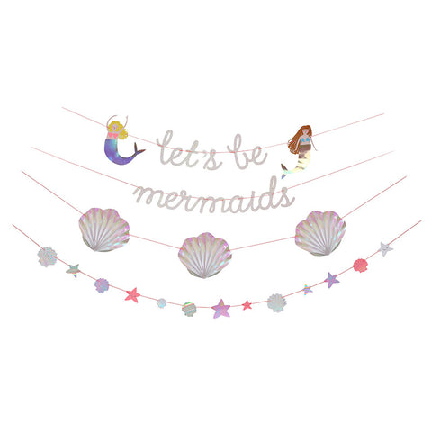 Meri meri 'lets's be mermaids' glarland - mini mi