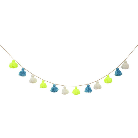 Meri Meri, wool garland, blue/green, Mini Mi