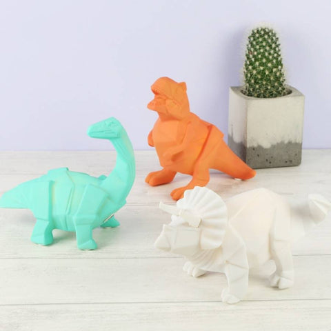 Mini Origami Dinosaur Lamps