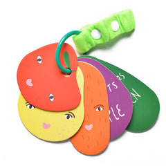 WEE GALLERY STROLLER CARDS - FRUIT AND VEG - FOR BABIES