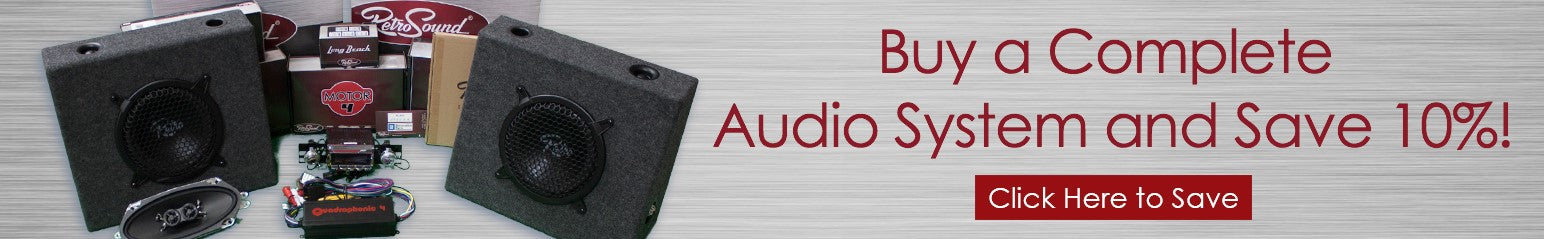 Buy a Complete Audio System and Save 10%