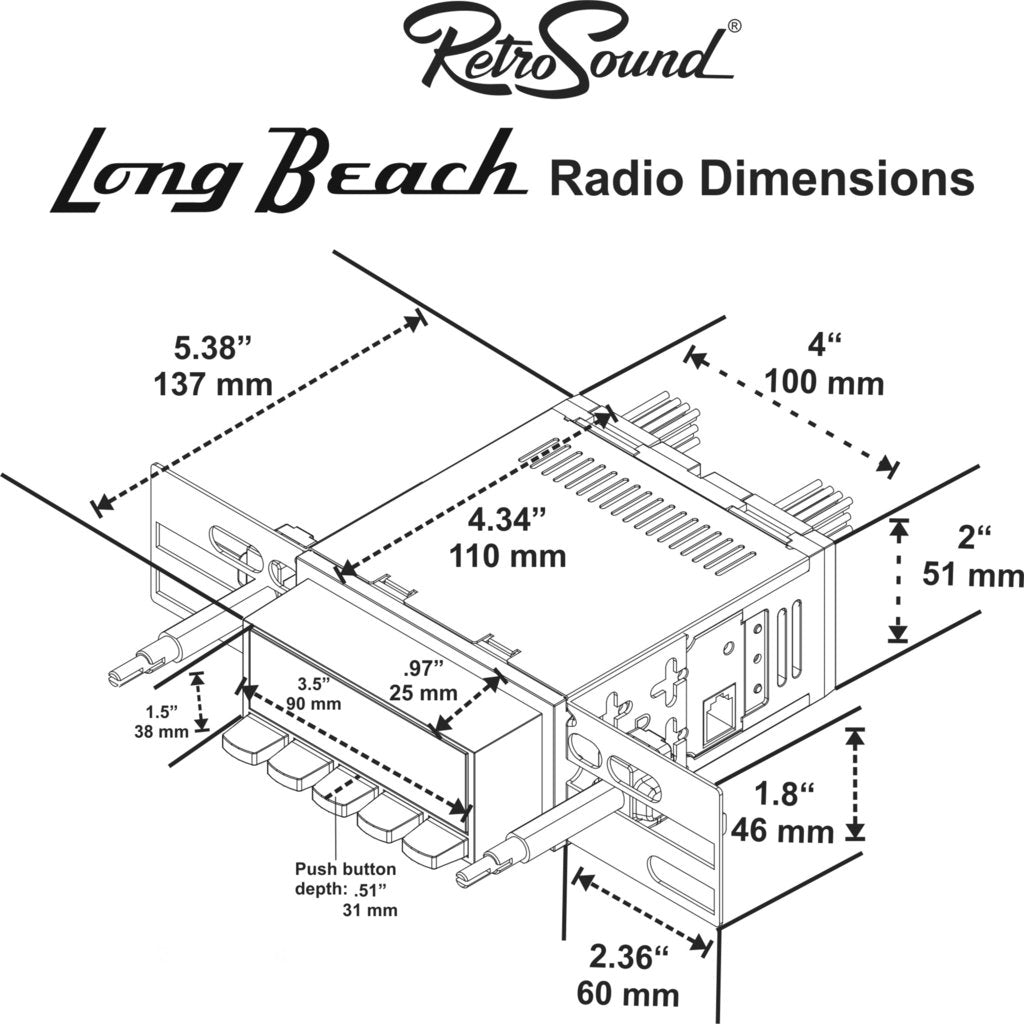 Long Beach Radio - No Knobs or Mounting Bezel
