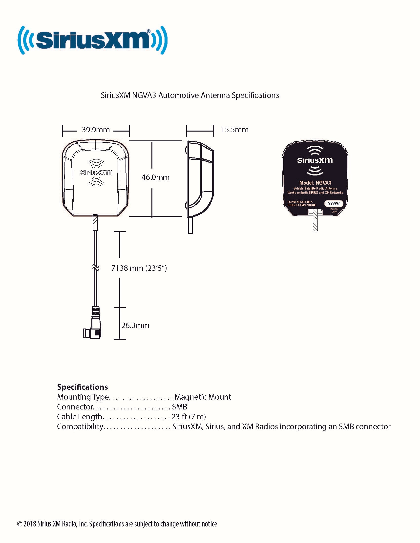 Sxv300 Siriusxm Connect Vehicle Tuner Free After Rebate Retrosound International Satellite Radio Wiring Diagram Promotion Is Valid For Us Residents Only