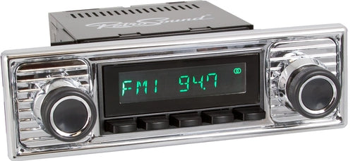 1964-72 Mercedes-Benz 600 San Diego Radio with Chrome Faceplate-RetroSound