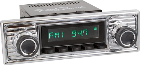 1961-71 Jaguar XK Series Model Two Radio with Becker-Style Plate - Retro Manufacturing  - 1
