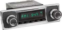 1964-72 Mercedes Benz 600 San Diego Radio with Black Pebbled/Chrome Faceplate-RetroSound