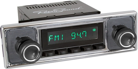 1960-66 Mercedes Benz 300 Series San Diego Radio with Pinstripe/Chrome Faceplate-RetroSound