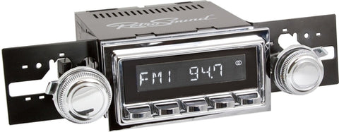 1950-65 Porsche 356 Model Two Radio with Chrome Bezel - Retro Manufacturing  - 1