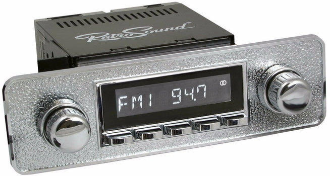 1969-75 Jaguar XJ Series Long Beach Radio with Euro-style Plate-RetroSound