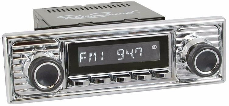 1956-59 Mercedes-Benz 219 San Diego Radio with Chrome Faceplate-RetroSound